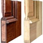 درب ساخته شده از چوب و ورق چند لایی