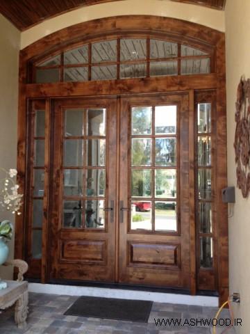 طرح های جدید درب ورودی، درب چوبی