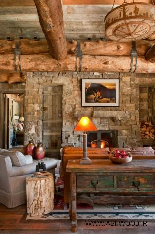کلبه چوبی , دکوراسیون روستیک چوبی کلبه چوبی , دکوراسیون روستیک چوبی