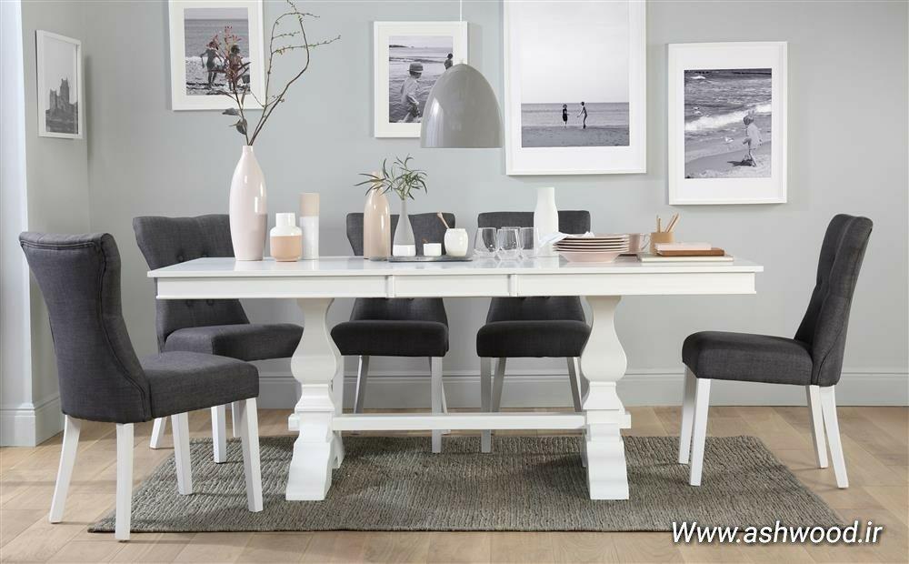 صفحه میز بلوط. ایده مدرن پایه فلزی