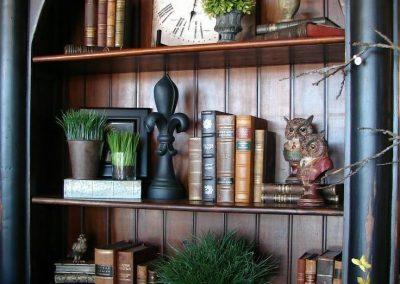 قفسه كتابخانه چوبی