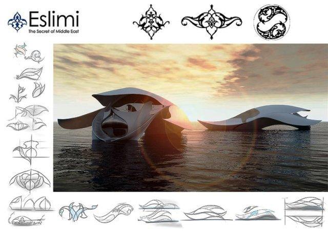 الگوهای ایرانی در طراحی خودرو , The Eslimi product Design Set 'SIMA' طراحی صنعتی بر اساس سبک اسلیمی و ختایی فرش تبریز , طراحی صنعتی با سبک های اسلیمی و ختایی
