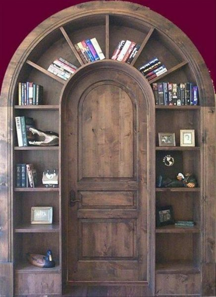 مدل کتابخانه چوبی