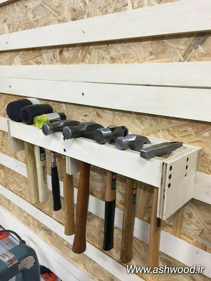 ساخت جعبه ابزار دیواری، جای چکش نجاری