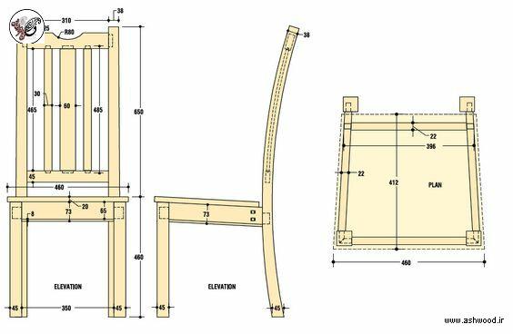 ابعاد استاندارد میز و صندلی