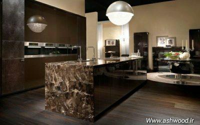 میز آشپزخانه منحصر به فرد با توجه به آشپزخانه مدرن دکوراسیون