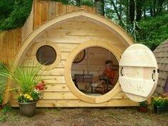 کلبه چوبی، خونه چوبی اسکیمویی، دکوراسیون چوبی فضای بیرونی و آلاچیق