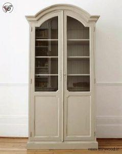 بوفه ویترین فرانسوی , دکوراسیون چوبی منزل سبک آنتیک فرانسوی , کابین نمایش