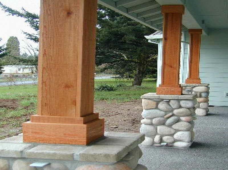 ایده ستون چوبی