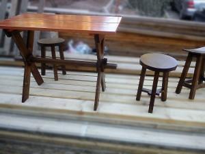 میز و صندلی نهار خوری ، دکوراسیون چوبی آشپزخانه