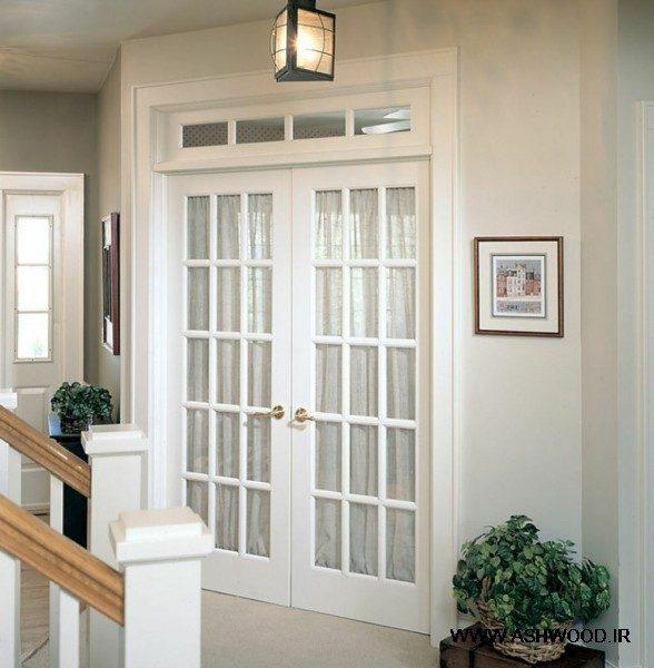 درب سبک فرانسوی , درب شیشه خور در دکوراسیون منزل , درب و شیشه