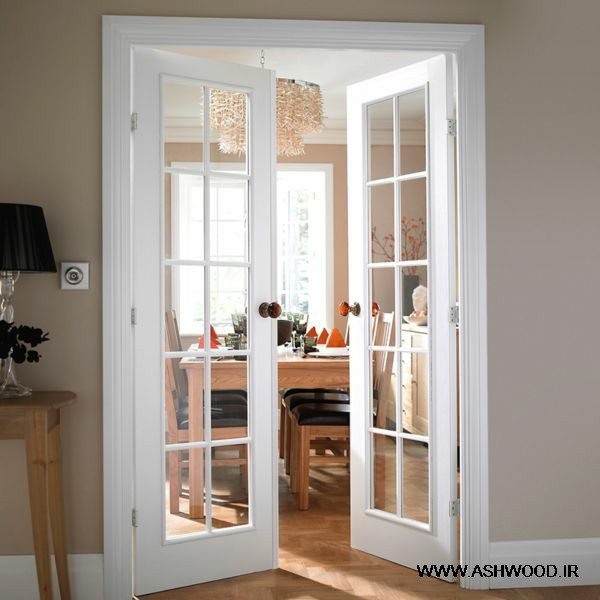 درب شیشه خور در دکوراسیون منزل , درب و شیشه