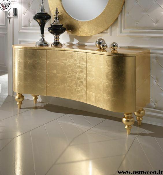 بهترین دکوراسیون رنگ طلایی ( سبک کلاسیک و مدرن )