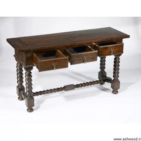 میز کنسول چوب خالص , محبوب ترین دکوراسیون چوبی ,  میز و صندلی , میز کنسول چوب طبیعی