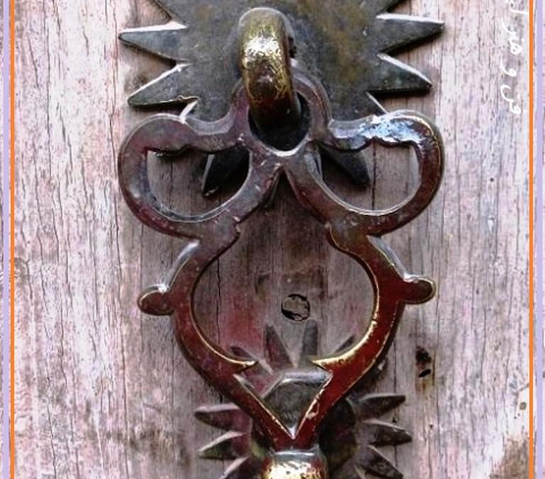 گل میخ درب قدیمی