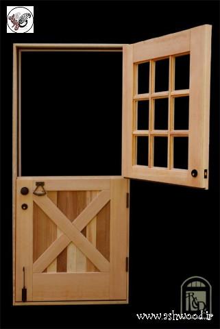 درب هلندی , درب چوبی دو تیکه , درب نیم تنه