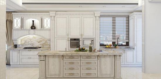 نمونه ای از کابینت های مدرن نصب شده در آشپزخانه