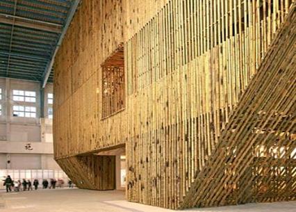 خانه ساخته شده از چوب بامبو که در مناطق زلزله خیز کاربرد دارد