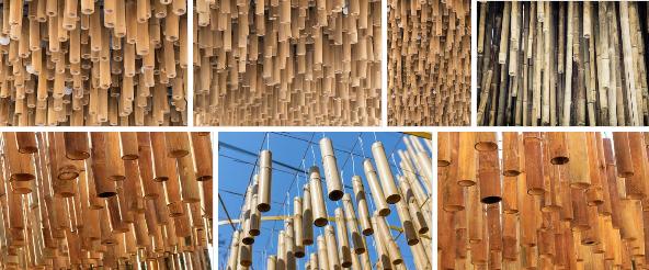 دکوراسیون چوب بامبو