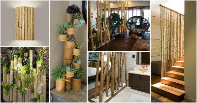 دکوراسیون داخلی ساخته شده از چوب بامبو