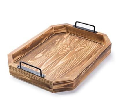 کاربرد چوب کاج در ابزار و وسایل چوبی، سینی چوبی ساخته شده از چوب کج