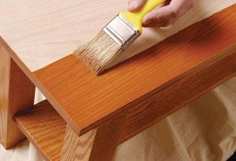 همه چیز راجع به رنگ کردن چوب -  . استفاده از رنگ های بر پایه ی روغن برای چوب