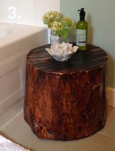 همه چیز راجع به تنه ی درخت -  ساخت میز دکوری کوتاه
