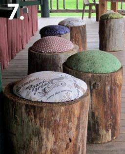 همه چیز راجع به تنه ی درخت -  ساخت پاف یا صندلی کوچک با تنه ی درخت
