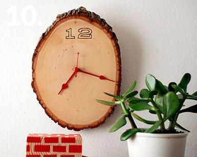 همه چیز راجع به تنه ی درخت -  ساخت ساعت چوبی با تنه ی درخت
