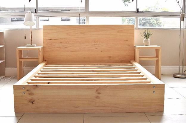 تختخواب چوبی- چوب کاج