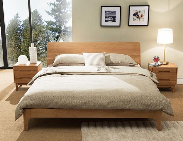 تختخواب چوبی- چوب بلوط