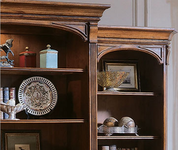 مدل کتابخانه چوبی لوکس و انتیک چوب راش