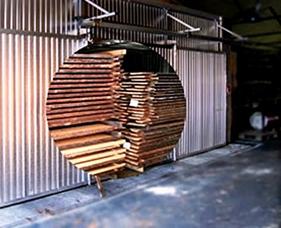 چوب های فینگر جوینت، نوعی کوره مخصوص خشک کردن چوب