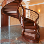 چوب های مخصوص پله؛ پله ها چوبی ساخته شده در فضای داخلی