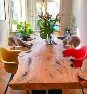 اسلب چوب؛ نمونه میز ساخته شده توسط اسلب چوب