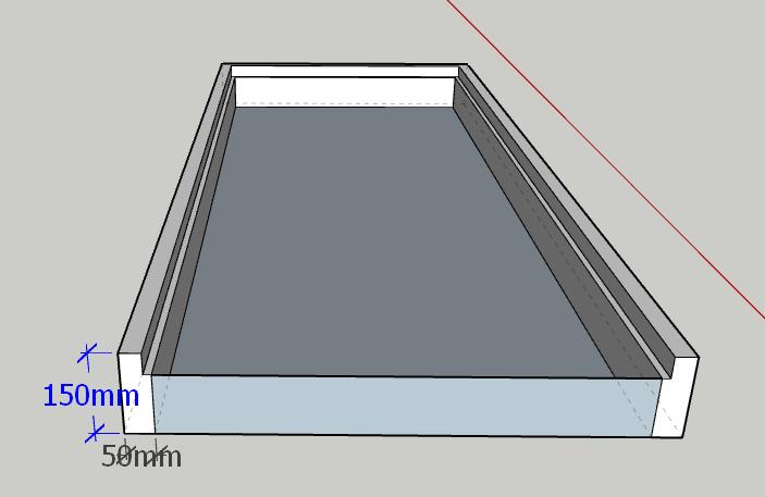 نقشه یک چهارچوب چوبی بدون روکوب