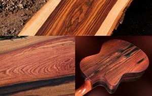 چوب سرخ- چوب بلسان بنفش و گیتار ساخته شده از آن