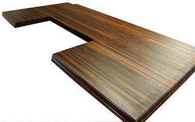 صفحه کانتر تاپ ساخته شده از چوب آبنوس