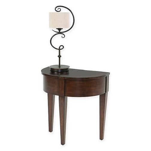 میز های نیم دایره - استغاده از میز نیم دایره برای قرار دادن آباژور