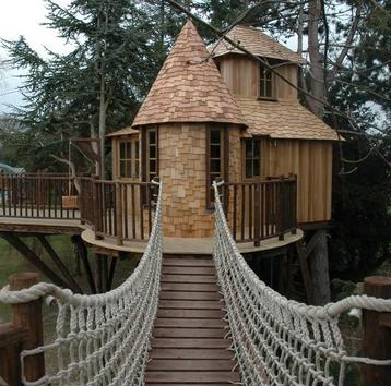 خانه چوبی درختی , ایده های جالب