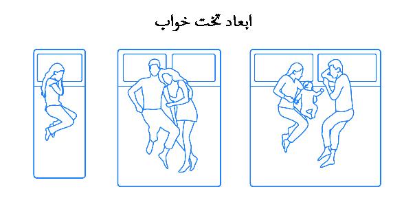 ابعاد و استاندارد های تخت خواب کینگ سایز