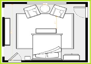 تخت چوبی کینگ سایز _ فضای ایده آل اتاق برای یک تخت چوبی کینگ سایز