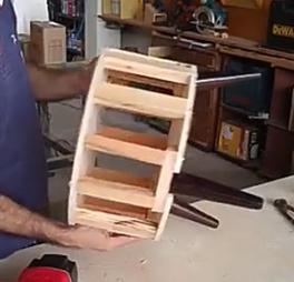 پاف مبل- چهار چوب دلخواه را می سازیم