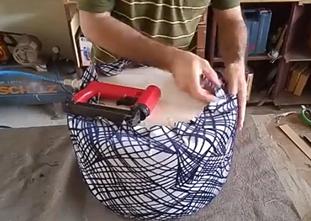 پاف مبل- کشیدن پارچه روی فوم