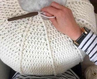 پاف مبل- درست کردن پاف با قلاب