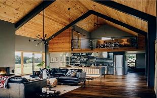 تیر چوبی سقفی - یک خانه گرم و صمیمی ساخته شده از تیر های چوبی سقفی