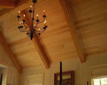 چوب درخت سرو در تیر چوبی سقفی