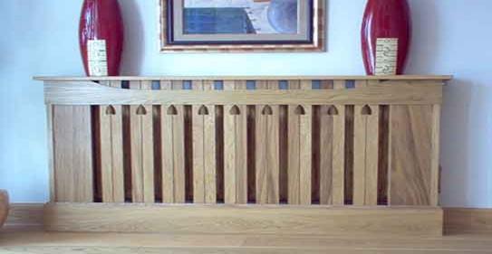 نمونه ای از کاور چوبی شوفاژ