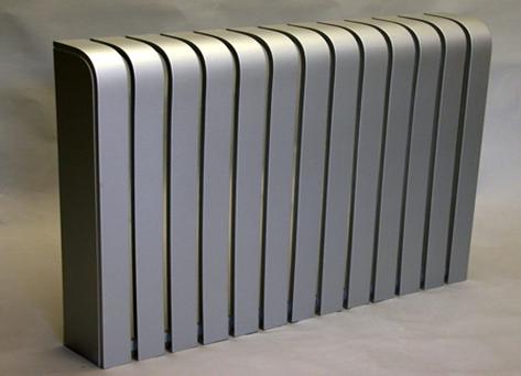 نمونه ای از کاور شوفاژ که از اتصال چند قطعه مشابه ایجاد شده است