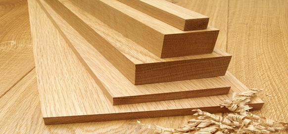 ابعاد مختلف چوب درخت بلوط